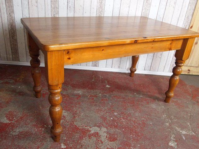 A Pine Farmhouse Country Style Dining Table And Four Chairs For Sale In Birmingham West