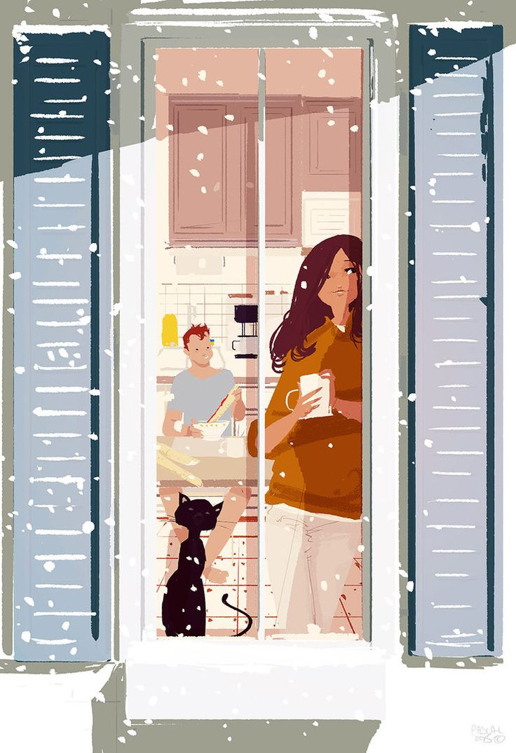 ⌨ONE MORE SNOW DAY by Pascal Campion⌨ #pascalcampion #paintings #artwork