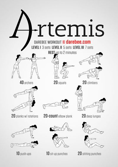 Artemis Workout | Repinned https://de.pinterest.com/muskelfarm/