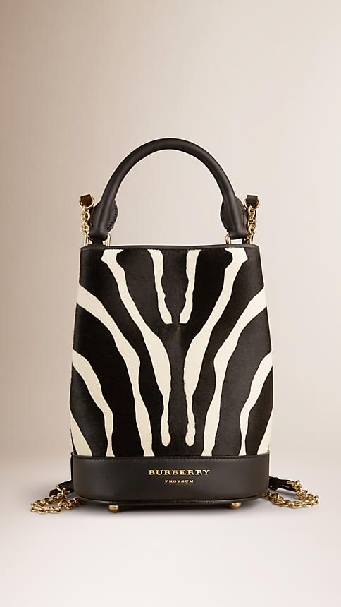 Natural The Small Bucket Backpack in Animal Print Calfskin - Image 1