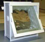 SAVERBAT Aération dans une cloison en briques de verre