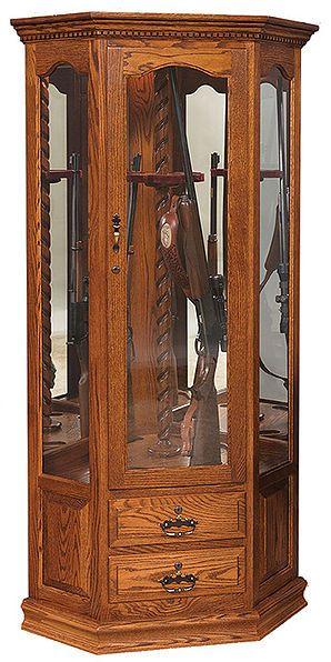 Corner Swivel Gun Cabinet | 5 Unique Ways To Store Your Rifles, Guns, And ·  Gun CabinetsHardwood FurnitureAmish ...