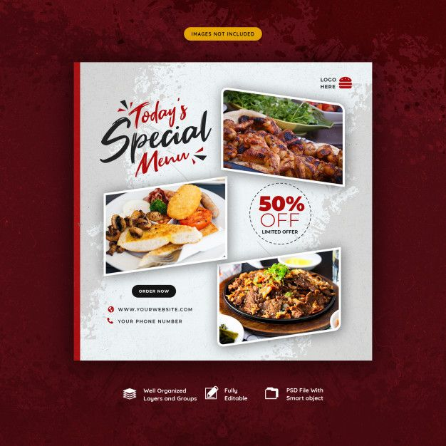 Food And Restaurant Social Media Post Template Restaurant Social Media Social Media Post Food