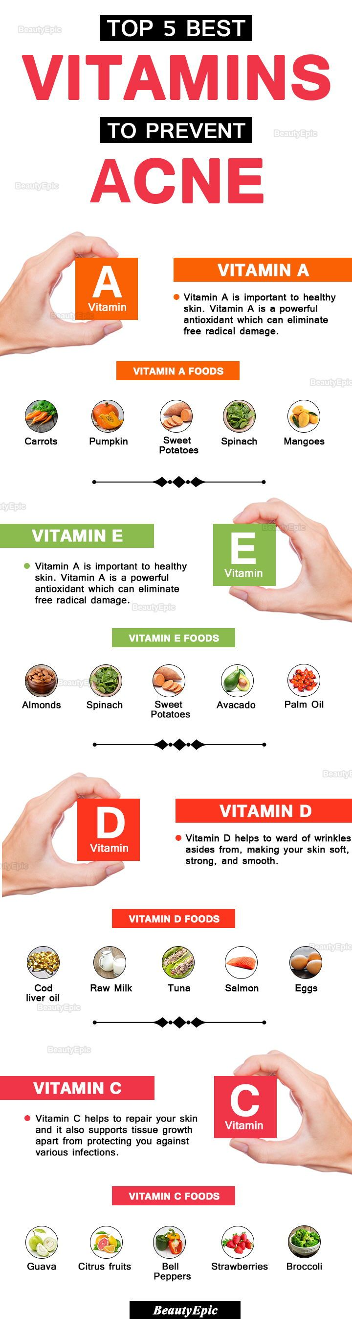 Vitamins to Prevent Acne