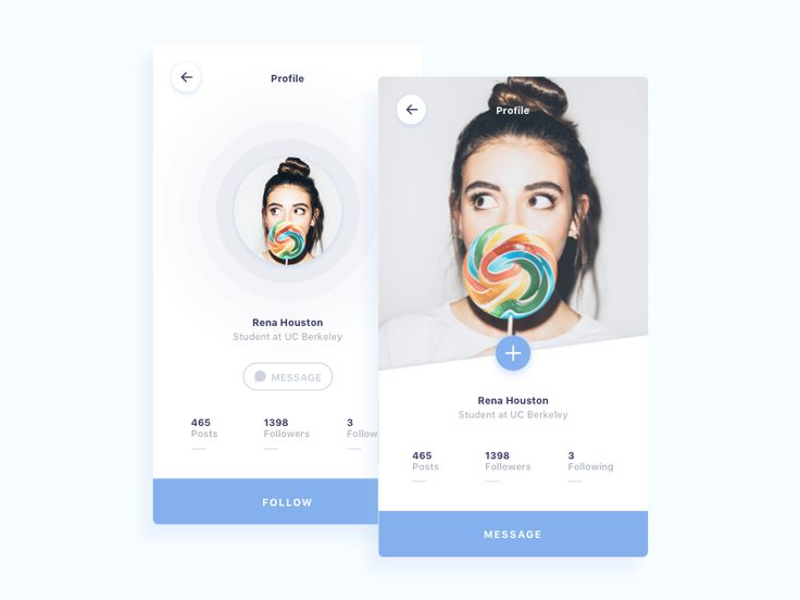 Profiles (Snow UI Kit Preview)