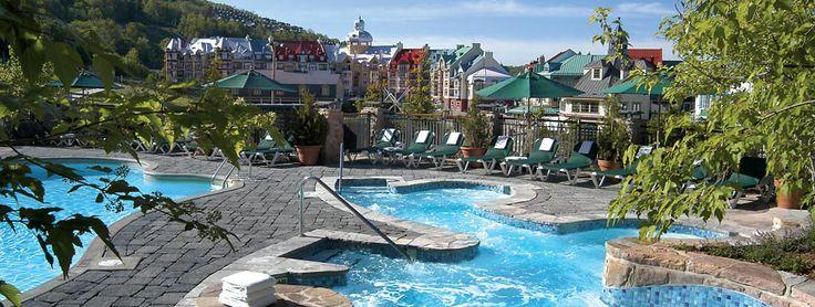 Gorgeous pools at the Fairmont Tremblant