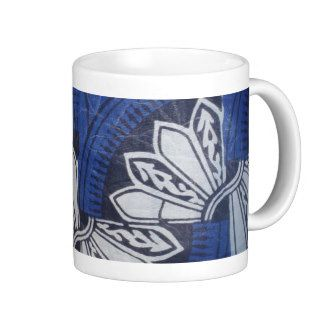 Blue butterfly Ankara Mug