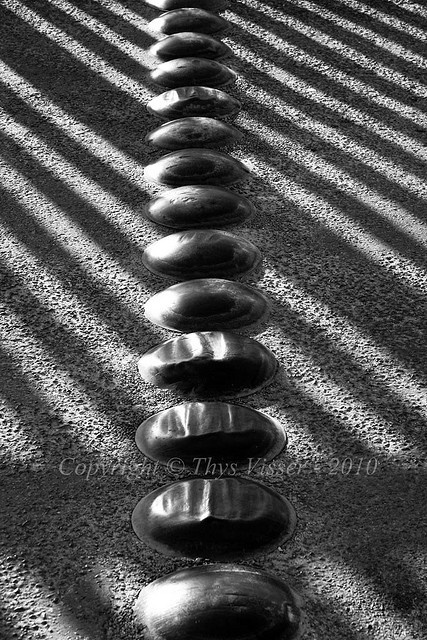 I know these speed-bumps and fence shadow all too well :)    Waenhuiskrans / Arniston -     (by Thys Visser, via Flickr)
