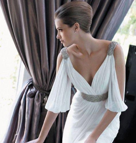 Greek Style A Line Chiffon Wedding Dress 2017 Simple Sash: 196 Best The Greek Wedding Dress Images On Pinterest