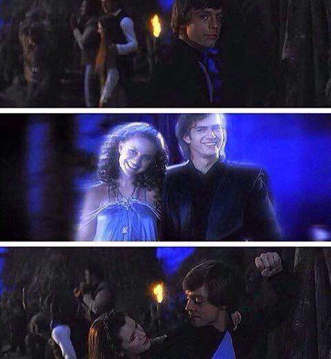 Luke seeing Padme and Anakin's force ghosts This is awesome! Why isn't this real?!