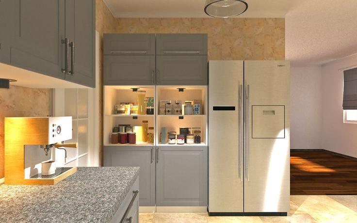 Kitchen design, 3ds-max, Corona Renderer, IKEA