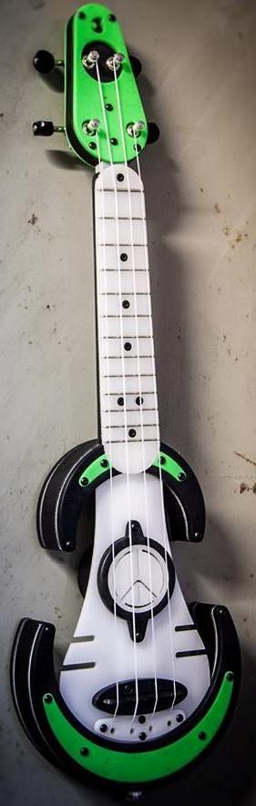 Antica Luthieria UFOS mint green electric Soprano Ukulele --- https://www.pinterest.com/lardyfatboy/