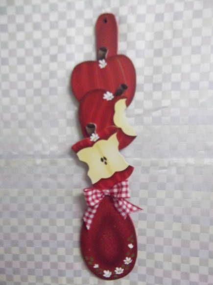 Colher decorada maçã | Artesanatos Ingrid Carvalho | 16E4EA - Elo7