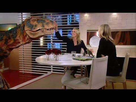 Dinosaurier i studion - Nyhetsmorgon (TV4)