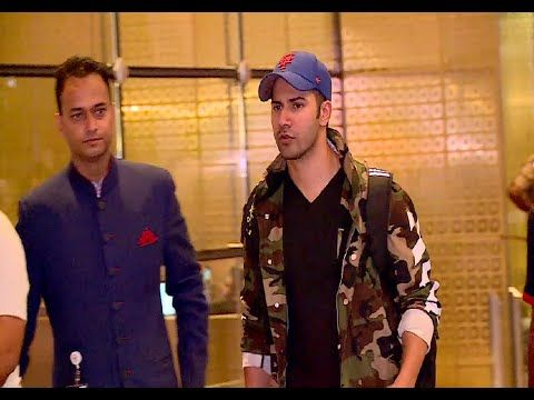 Varun Dhawan spotted at Mumbai airport returns from Dream Team Tour.