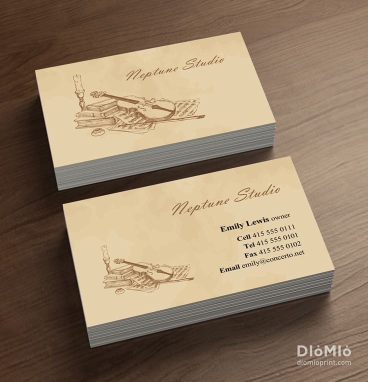 Classical Music Business Cards