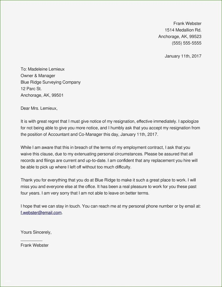 14 Skillful Resignation Letter Template Pdf in 2020