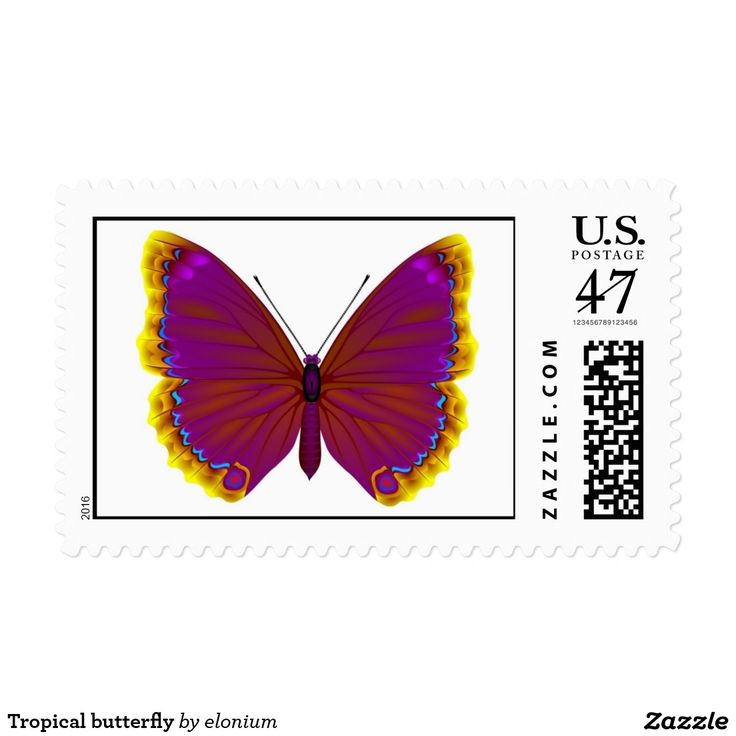 Tropical butterfly stamp #butterfly #insect #tropical #postage