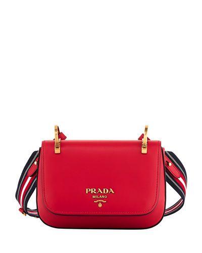 9c5a43a7f6d1 PRADA CITY CALF RING-TOP SMALL MESSENGER BAG. #prada #bags #shoulder bags  #lining #suede #
