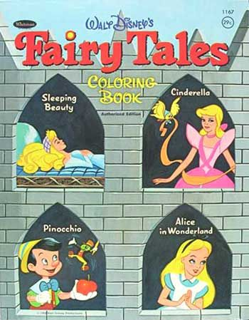 Disney Fairy Tales Coloring Book, Whitman 1969
