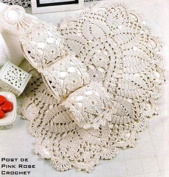 accessoires de salle de bain au crochet le monde creatif divers crochet pinterest plus d. Black Bedroom Furniture Sets. Home Design Ideas
