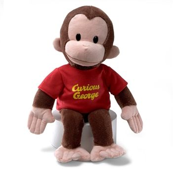 Curious George Stuffed Animal with Red Shirt by Gund