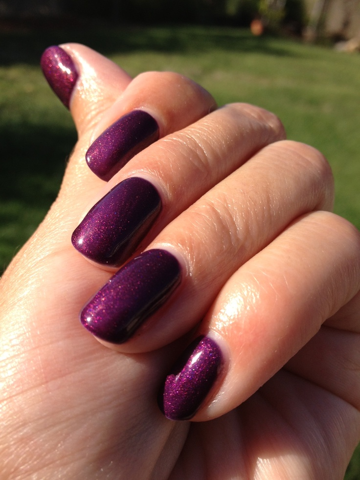 "Gel Nail Polish ProGel ""Queens Cloak"" two coats."