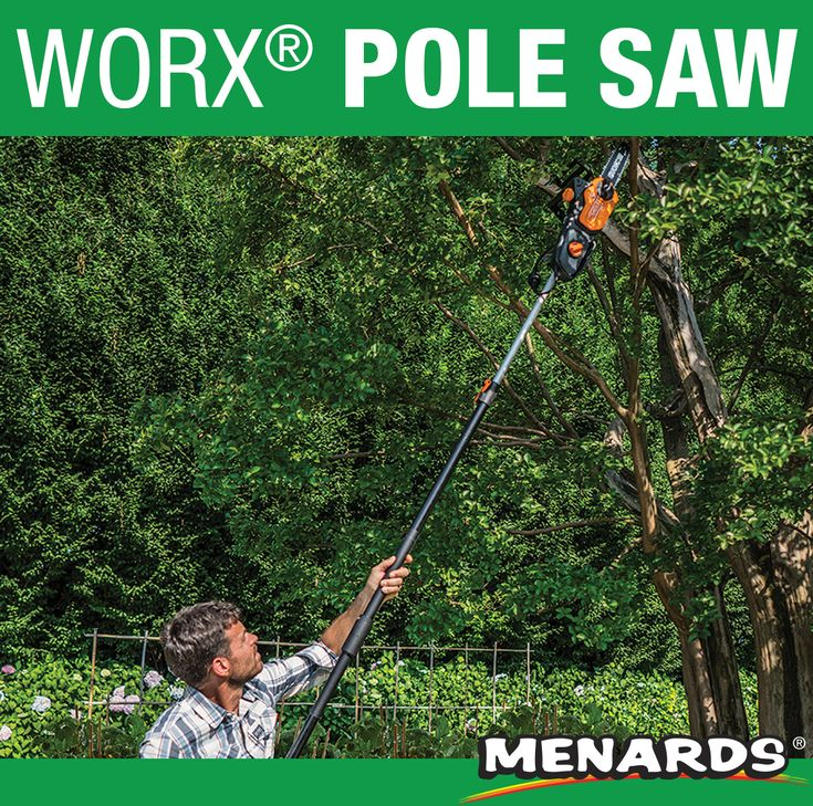The Worx 2 In 1 Pole Saw And Chainsaw Is Unique And Multifunctional Attach The 8 Ft Extension Pole To Reach Higher Limbs De Pole Saw Extension Pole Menards