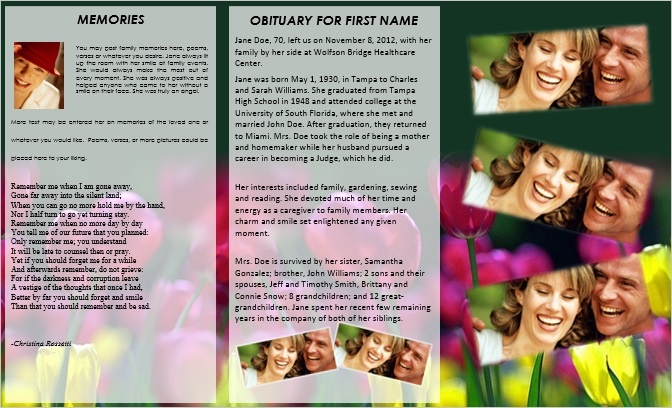 Show How You Really Feel with Death Memorial Cards Funeral - funeral pamphlet templates