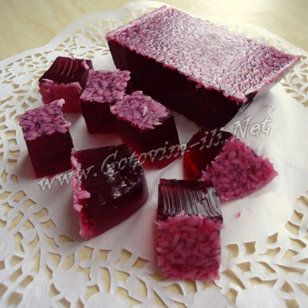 Желейные конфеты из вишневого сока