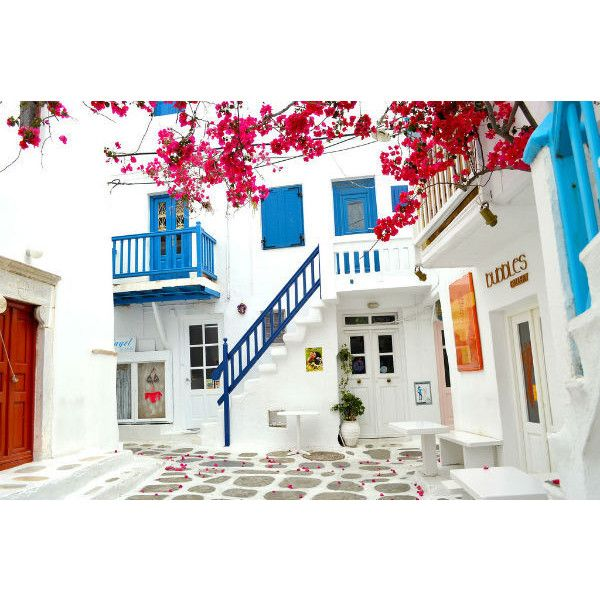 Decorating With Mediterranean Blue Liked On Polyvore