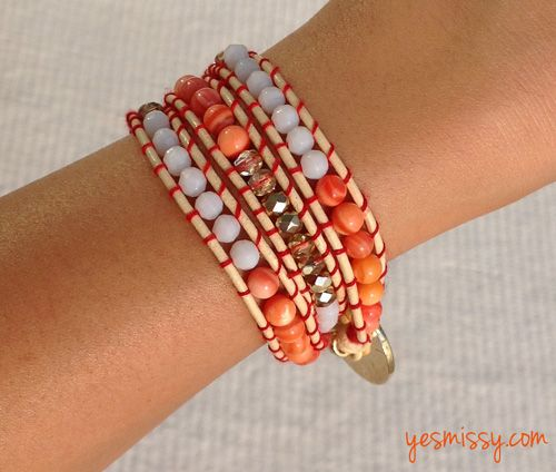 DIY Jewelry: Chan Luu Bracelet Tutorial - Yes Missy! These beautiful hand wrapped bracelets are quite the pretty penny.  But lucky for you the materials  are inexpensive, so time is all you need to do it yourself!