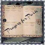 Prayers for Paris, Prayer journaling, planner setup, prayer closet setup, war room prayer closet,