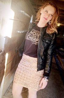 Golden night out skirt by Molly Bracken