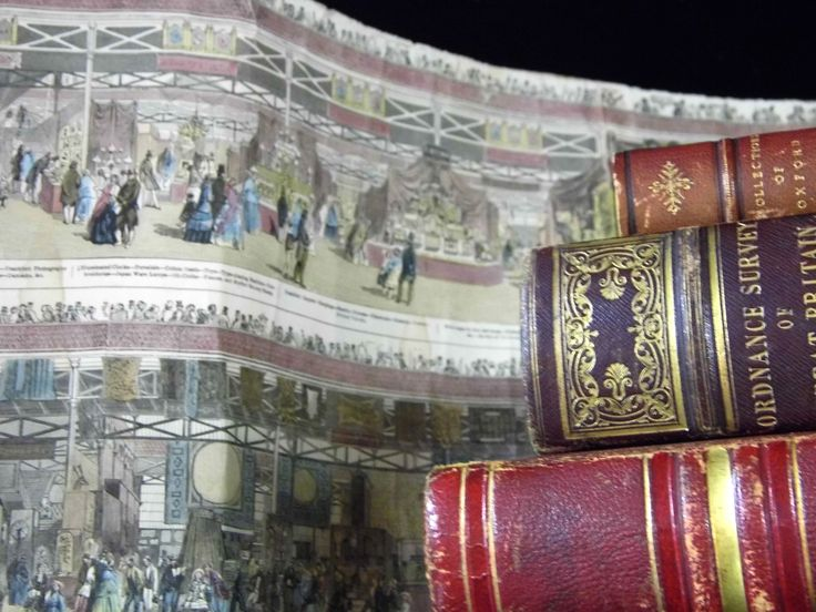 Detail of a panoramic image of the Great Exhibition