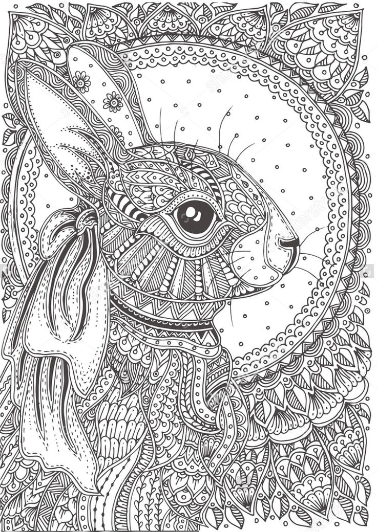Easter image by sharon Bunny coloring pages, Pattern