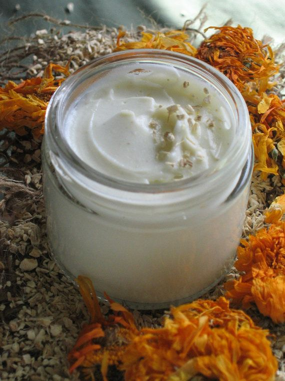 Organic Marshmallow Honey Face Cream made with Infused Organic Marshmallow Root & Local Honey - Redness Reducing - After Sun Care