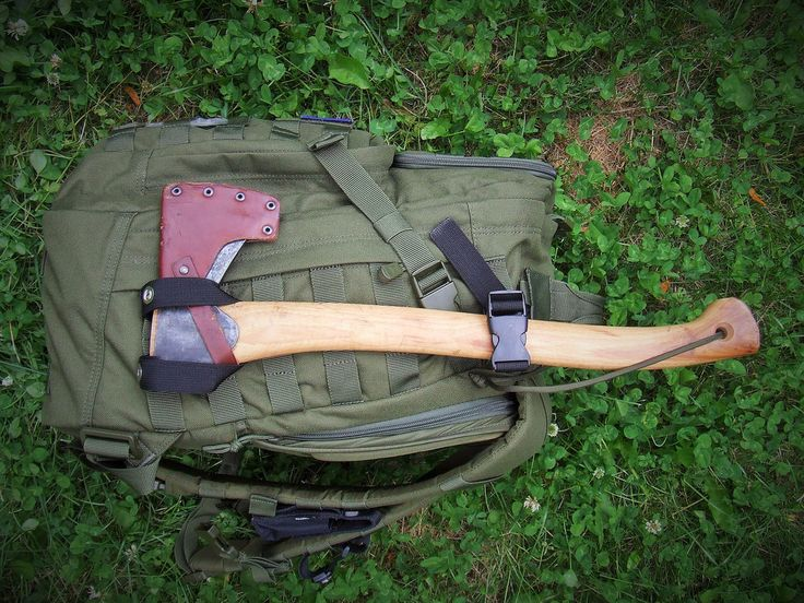 Gransfors Axe Holder. Brenton Horne shares his clever self-made Axe holder modification on his day pack.