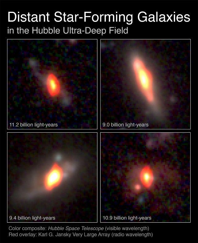 """Un articolo pubblicato sulla rivista """"The Astrophysical Journal"""" descrive le osservazioni dei luoghi di nascita della maggior parte delle stelle odierne. Un team di astronomi guidato da Wiphu Rujopakam ha utilizzato i radiotelescopi VLA e ALMA per studiare galassie talmente distanti che le vediamo com'erano circa 10 miliardi di anni fa, quando nell'universo ci fu il periodo di picco della formazione stellare. Leggi i dettagli nell'articolo!"""