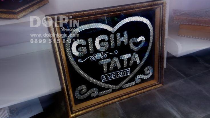 Mahar Uang Koin Bentuk Nama #Mahar #MaharUang #Wedding #Gift #MasKawin #Nikah #pigura #frame #koin #Handmade