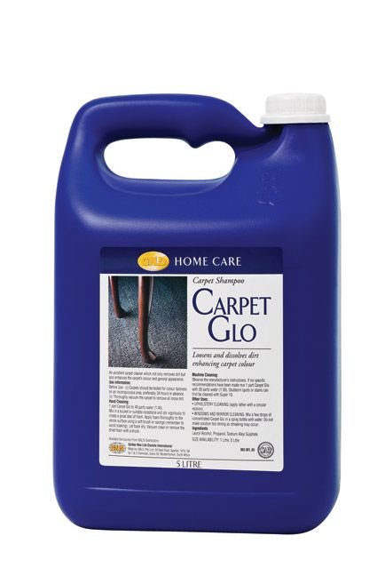 5 litre - Carpet Glo gives all the excellent care needed to maximize carpet appearance and functional life.