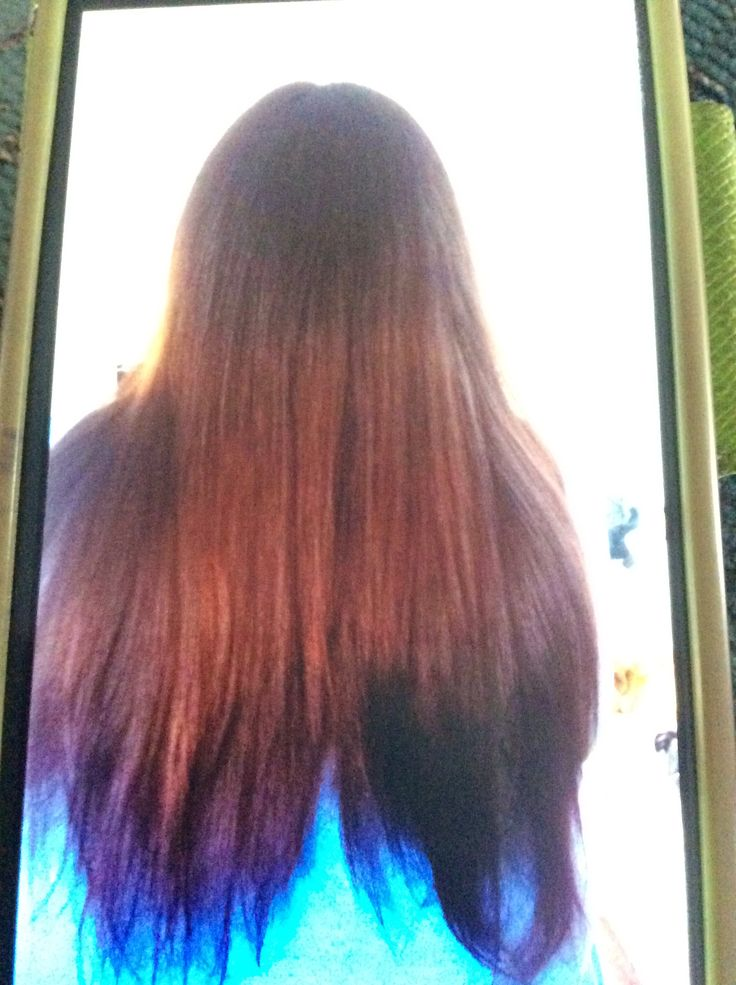 First blow dry on human head