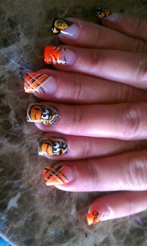 Orioles nails by Tammy