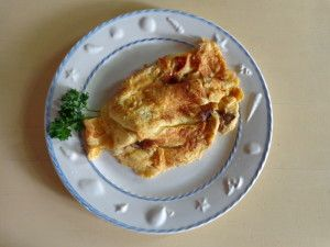 Mushroom omelet with porcinis (omelette aux cepes)