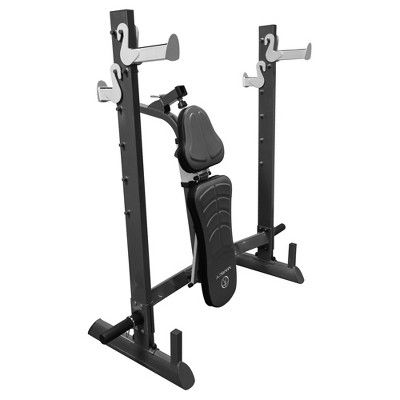 Marcy Foldable Olympic Weight Bench, Black