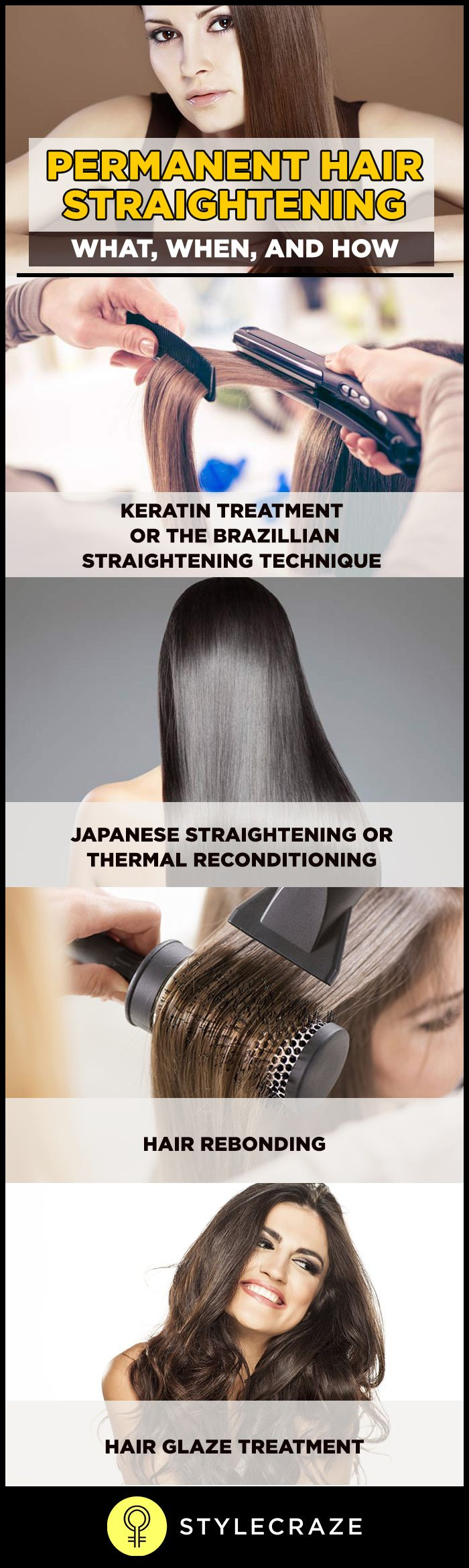 Women love to have long, beautiful, shining and straight looking hair. In order to get this, they try different things, and permanent hair straightening is one of them. Before opting for hair straightening permanently, know what it means-