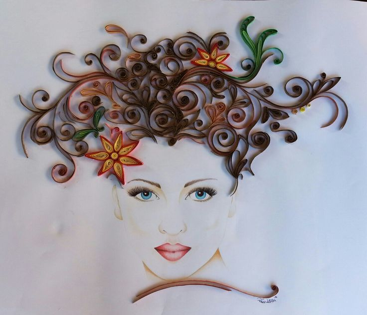 #quilling #paper #quillingart #girl #hair #hairstyle #pencil #homemade #handmade
