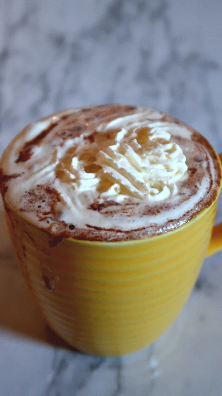 Bulletproof Hot Chocolate Recipe - An easy low carb and keto friendly hot drink recipe with almond milk, heavy cream to enjoy instead of coffee.