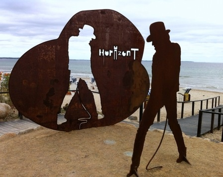 Udo Lindenberg - Skulptur aus Stahl - Timmendorfer Strand