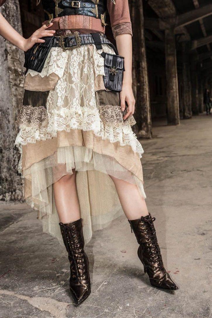 Longue jupe steampunk RQ-BL